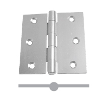 808 STEEL SQUARE BUTT HINGES
